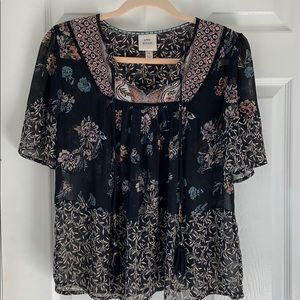 Flowy Floral Blouse - never worn